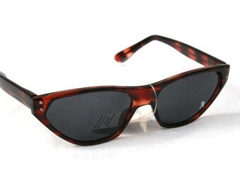 unisex rectangular sunglasses retro tortoise sunglasses cats eyes NOS early 90s