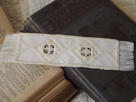 Hardanger Embroidery Bookmark