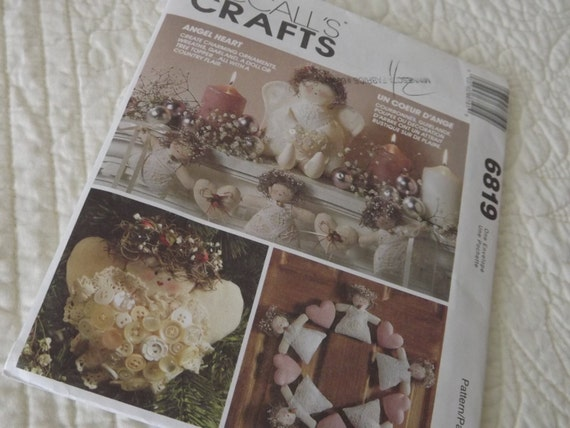 McCall's Crafts 6819 Angel Heart Pattern - Uncut