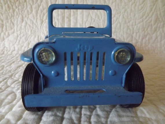 Vintage Tonka Toy Blue Jeep from the 1960's