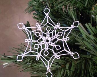 Wire Snowflake Lace Ornament