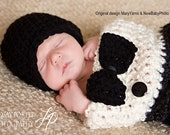 Cocoon and Hat Photography Boy Tuxedo, Cocoon Hat and Bow 3pc Baby Photo Shoot, TUXEDO Boy Newborn Photo prop, Tuxedo Photography Gift Baby