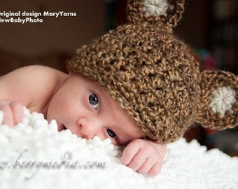 Teddy Bear Hat and Cocoon Newborn Baby Photo Prop in NUTTY Photography set 2pc Infant Girl Boy Photo shoot Babies Perfect GIFT Newborns Baby