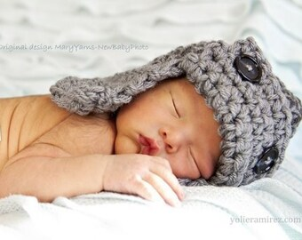 Pilot Aviator Flyer Hat Newborn / Hat Baby Photo prop in GRAY / Photography Hat Babies Infants / Photo shoot HAT /The Perfect GIFT Newborns