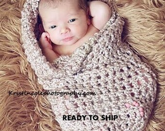 Coccon Egg Newborn Baby wrap Photo prop in BROWNS - Photography Prop all Babies Infant girl boy Photo shoot Available more colors