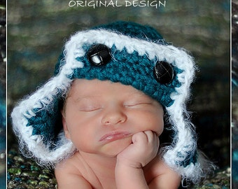 Flyer Aviator Hat, Newborn Baby Photo prop Hat, Photography Pilot Hat,  all BABIES Photo Shoot Hat, Baby Shower Gift Newborn Hat, PILOT Hat