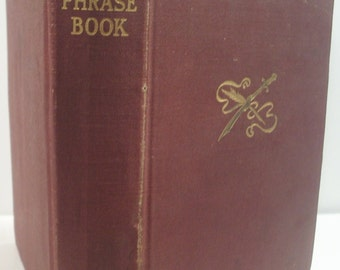 Antique book, PUTNAM'S PHRASE BOOK, 1919 first edition hard cover