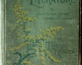 Antique book Stepping Stones to Literature Third Reader 1902