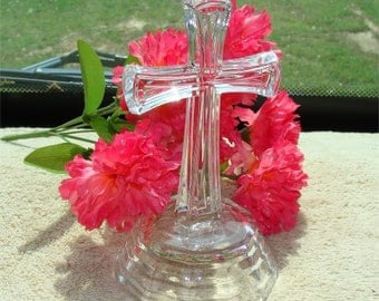 Waterford ? Crystal Glass Easter CROSS Vintage and BEAUTIFUL