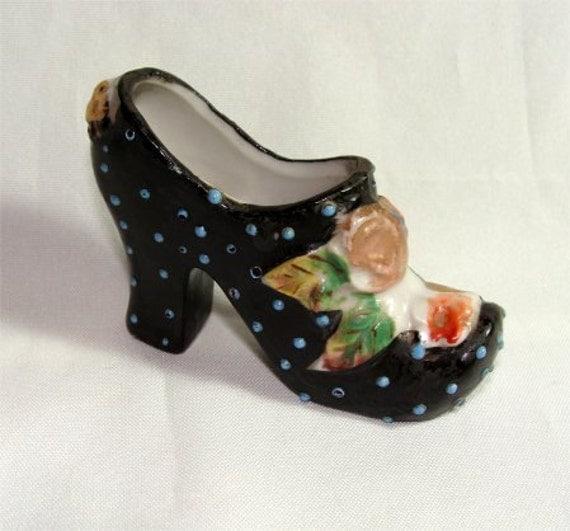 Estate Find Vintage Porcelain Shoe Made In Japan By Gypsyseller