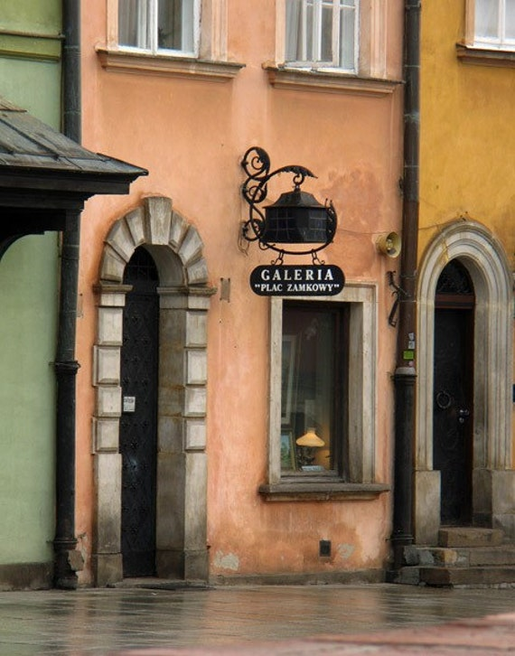 """Fine Art Color Architecture Photography of Pastel Colored Buildings in Poland - """"Galeria Warsaw"""""""
