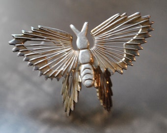 SALE~ WIRED WINGS: 3D Sterling Silver Butterfly Wire Wrapped Pin