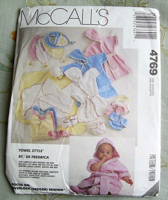 McCall's 4769 Baby Bath Pattern