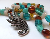 20% Off Sale - On the Wing -Glass Bead Necklace