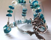 FALL SALE 15% Off - Mermaid Blue Necklace