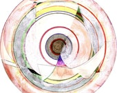 Abstract Mixed Media Collage of a Circular Form (Mandala)