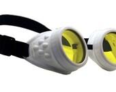 White Basic Cyber-Rave STEAMPUNK Goth/Punk Clubbing Goggles
