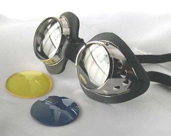 SCOTT PILGRIM-Ramona Flowers 'Chrome' Metal STEAMPUNK Goth Goggles