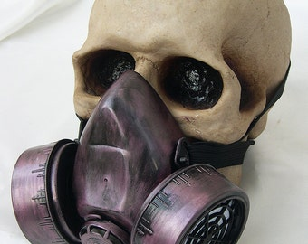 Amethyst Dusty Rose -Look Steampunk Chemical Nuclear Fall Out Biological Warfare Respirator Gas Mask -A BURNING MAN - OCCUPY Must Have