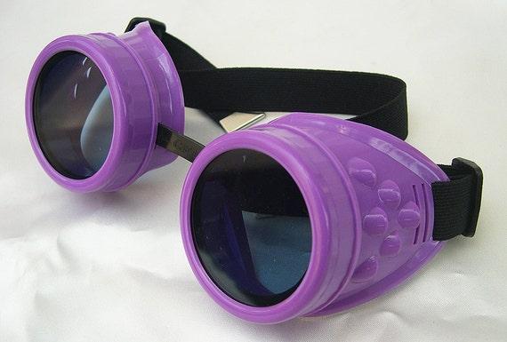 Basic PURPLE Cyber-Rave STEAMPUNK Goth/Punk Clubbing Goggles