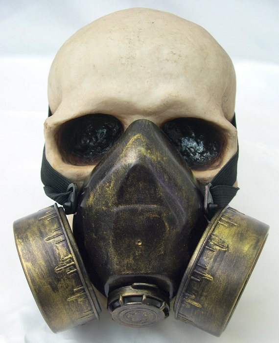 JADE GREEN Distressed -Look Steampunk Chemical Nuclear Fall Out Biological Warfare Respiratory Gas Mask -A Burning Man Must Have