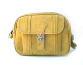 SALE - Vintage American Tourister Butter Yellow  Overnight Bag Carry On Travel Case