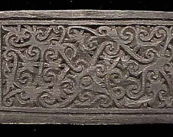 Old Borneo Tattoo Block, Rare and Exceptional