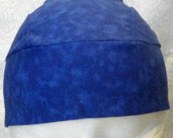 Handmade Blue Skull Cap, Chemo Cap, Hats, Alopecia, Head Wrap, Caps, Do Rag, Hair Loss, Surgical Cap, Motorcycle, Helmet Liner, Bald