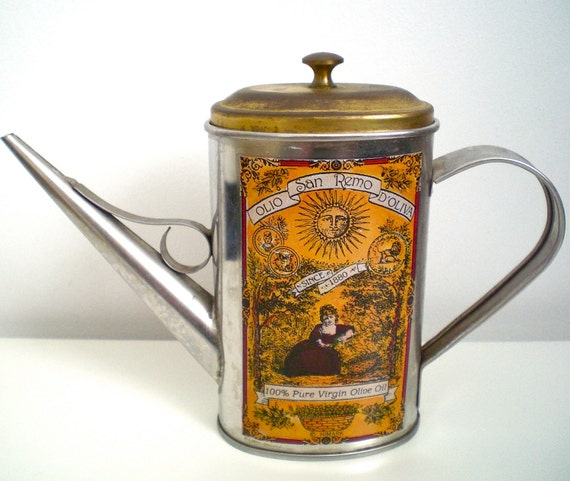 Italian Style Cooking Oil Can Dispenser