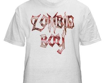 Zombie Boy Horror Mens White Tshirt M L XL XXL