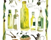 Food print - Olives and olive oil print No 6/50 - The kitchen collection.