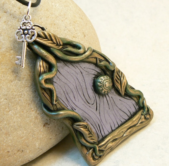 Fairy door pendant w key by desertrubble on etsy for Fairy door with key