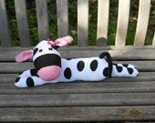 Sock cow, sock animal, stuffed toy, soft sculpture, Molly Moo