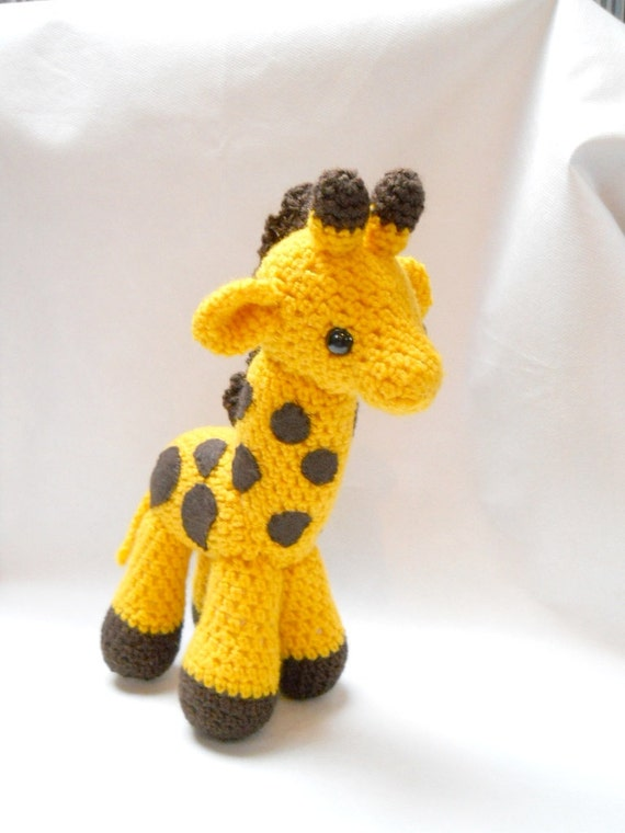 giraffe Amigurumi crocheted animal plush animal yellow