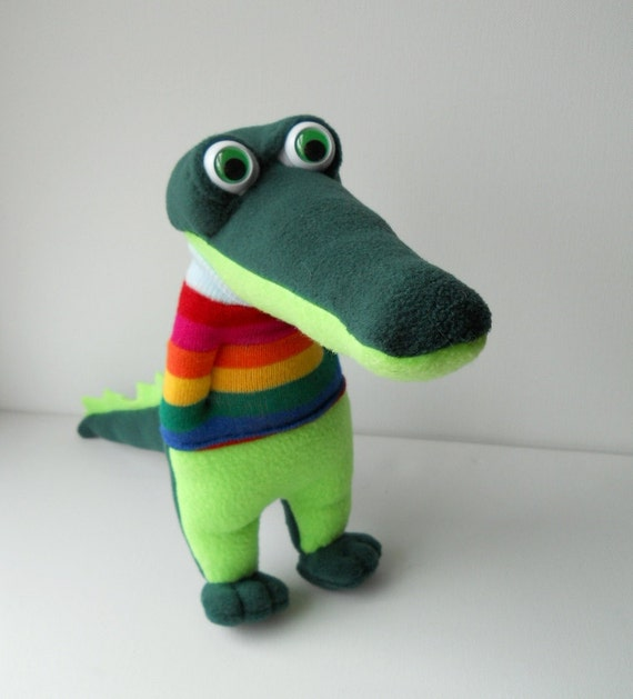 RESERVED LISTING for Vicci Nutter,  plush crocodile Snapster