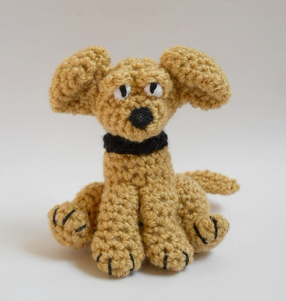 RESERVED LISTING for bubblegumbelles,  puppy dog Labrador Amigurumi crochet animal  Biscuit