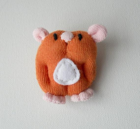 RESERVED LISTING for Kittypinkstars, sock sculpture hamster brooch