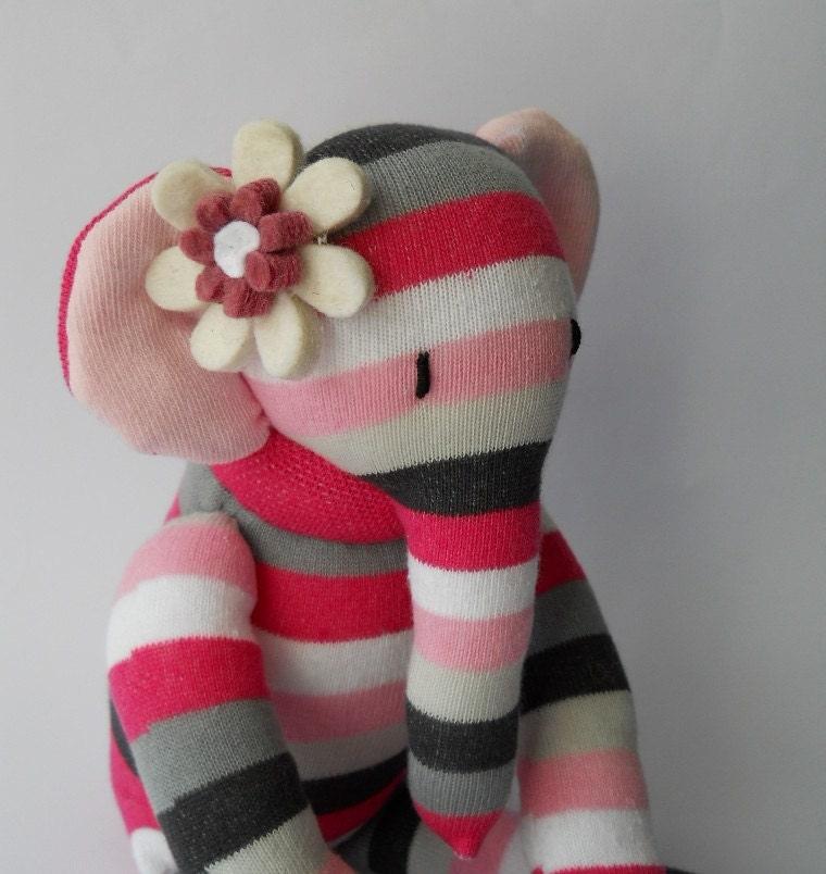 plush elephant sock animal doll plush art doll sock