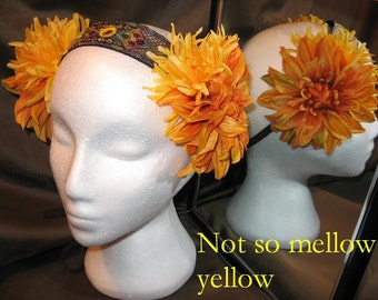Tribal Fusion ATS Bellydance Headband, Not So Mellow Yellow