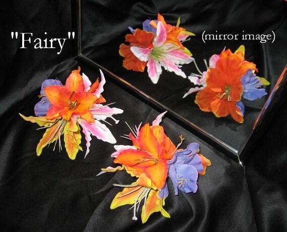 Tribal Fusion ATS Bellydance Floral Hair Clips, Fairy