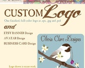 Custom Logo Design with Etsy Banner, Avatar and Business Card Design
