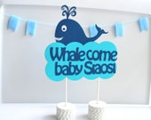 Baby Shower Whale come baby party Centerpiece - Personalized welcome Baby shower Centerpiece, A291