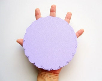 Circle Die Cut, Banner Scalloped Circles (5.0 inches) inTextured Cardstock- Choose your color A69