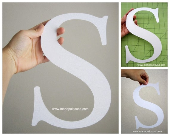 Big die cut letter full size 11 inches tall letters a947 for Large letter die cuts