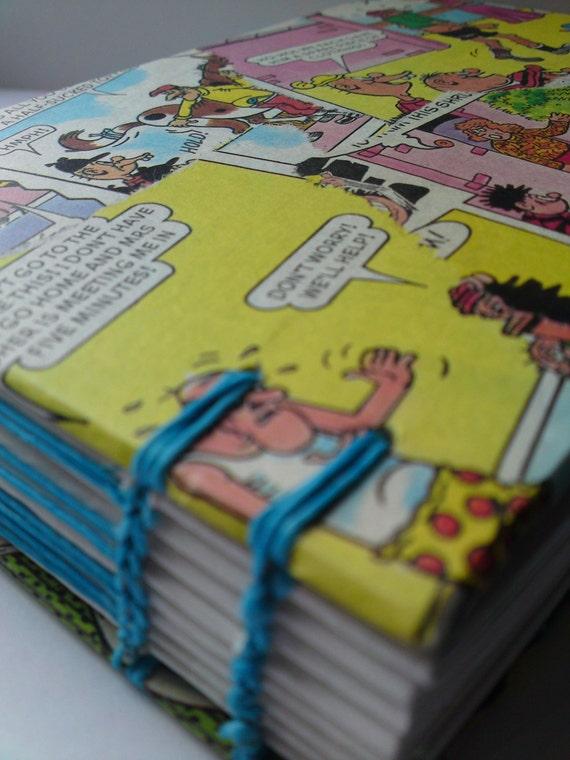 Vintage BEANO comic collage sketchbook / journal / photo album