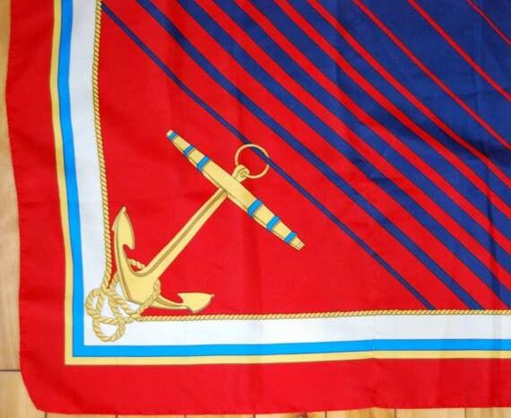 vintage nautical anchor scarf