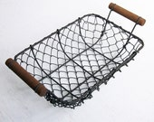 Rust Steel Rectangular Wire Basket