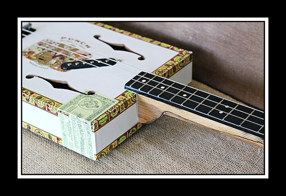 3-String 'Punch' Hollow-Body Electric Cigar Box Guitar