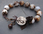 Porcelain Bee and Agate Handmade Bracelet - ForMySweetDaughter