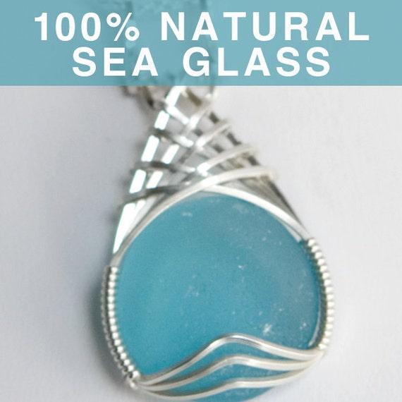 Turquoise Blue Sea Glass Jewelry